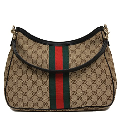 Gucci Original Canvas and Leather Black Hobo Shoulder Bag 388921
