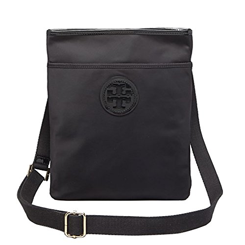 Tory Burch Ella Swingpack Crossbody Nylon Black