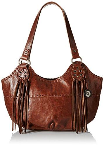 The Sak Indio Satchel Bag, Teak Fringe, One Size
