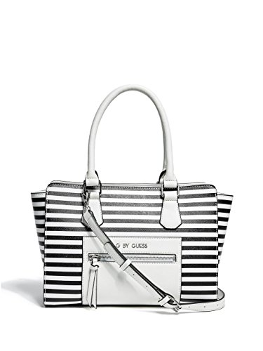 G by GUESS Women's Munday Striped Satchel
