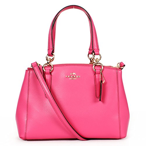 Coach F36704 Dahlia Mini Christie Carryall in Crossgrain Leather