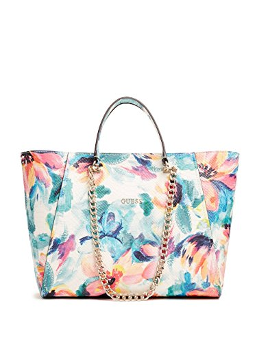 GUESS Nikki Floral-Print Chain Tote