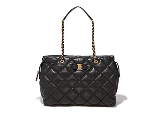 Salvatore Ferragamo Women's Ginette Large Quilted Nappa Vara Bag
