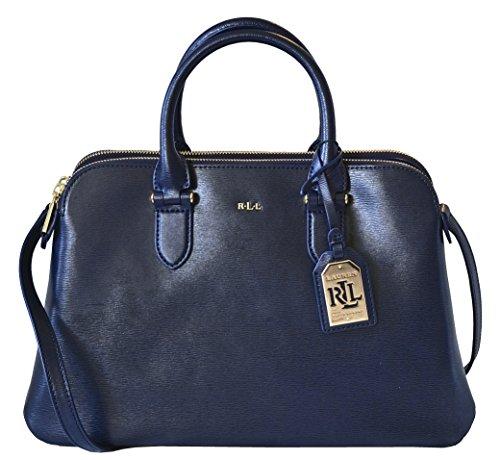 LAUREN Ralph Lauren Newbury Double Zip Dome Satchel Handbag Purse