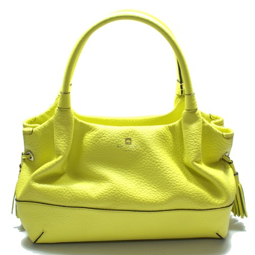 Kate Spade Stevie Southport Avenue Leather Yellow Iris Shoulder Bag/ Handbag (Yellow) #WKRU1732