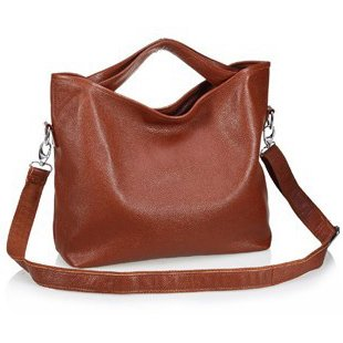Ilishop Women's Coffee Tote Handbag Genuine Leather Shoulder Bag