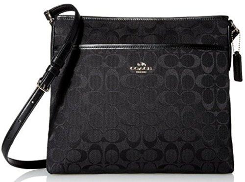 Coach 12CM Signature File Crossbody Handbag 36378 – Black