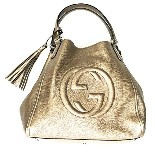 Gucci Soho Metallic Leather Medium Shoulder Bag