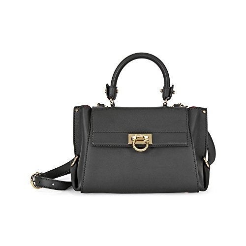 Ferragamo Sofia Leather Shoulder Bag – Black