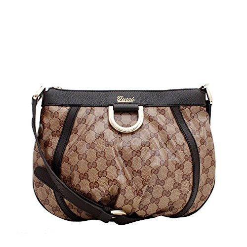 Gucci CrossBody Beige/ebony GG Crystal Canvas D-ring 265691 200047 Tan/brown Cross Body Shoulder Bag