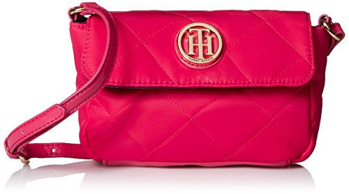 Tommy Hilfiger Quilted Mini Flap Xbody Cross Body Bag, Pink, One Size