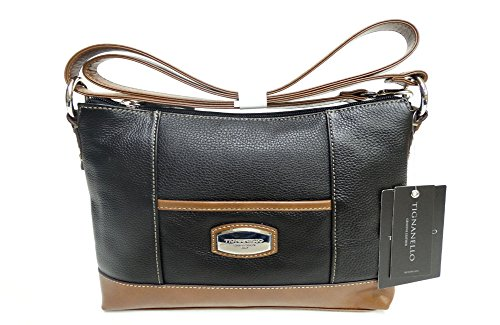 Tignanello Artisan Revival Cross Body Black/Cognac T61505A
