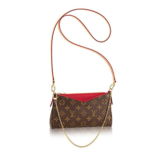 Authentic Louis Vuitton Monogram Canvas Pallas Clutch Handbag Noir Article: M41638 Made in France