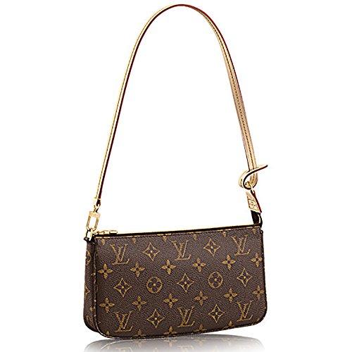 Authentic Louis Vuitton Monogram Canvas Shoulder Bag Clutch Handbag Pochette Accessoreis NM Article: M40712 Made in France