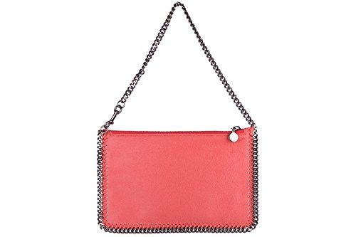 Stella Mccartney women's clutch handbag bag purse falabella shaggy deer pink