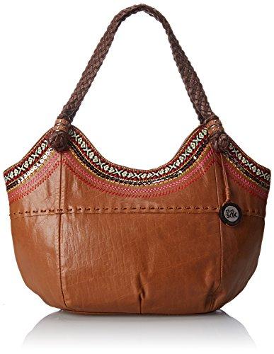 The Sak Indio Satchel Top Handle Bag, Tobacco Ribbon, One Size