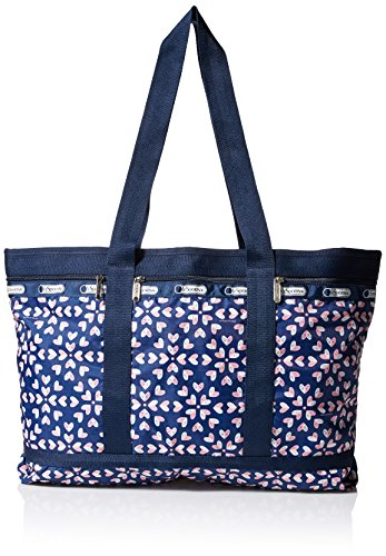 LeSportsac Travel Tote Bag, Heart Burst Navy, One Size