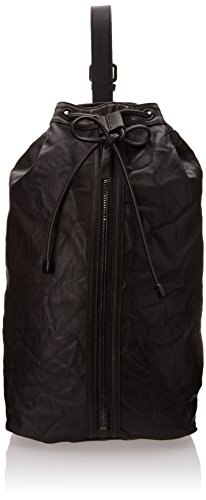 L.A.M.B. Flynn 2 Sling Back Pack with Drawstring Travel Tote, Black, One Size