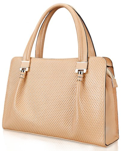 Ilishop Women's Gold 2014 Brand Hot New Artistic Fashion Geniune Leather Handbag Shoulder Bag