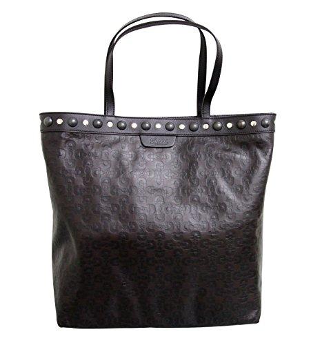 Gucci Brown Babouska Horsebit Leather Handbag Tote Bag 286304 2038