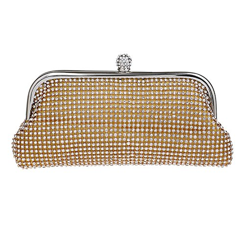 Mlotus Ladies Crystal Rhinestones Bling Evening Clutch Handbags Purse