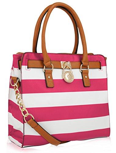 Designer Handbag ~ Designer Purse ~ Designer Handbag for Women ~ Multi Pocket Designer Purse ~ Designer Handbag with Pad-lock ~ Perfect Women Purse ~ Beautiful Designer Handbag ~ PLORA Fashion Designer Handbag Women Designer Purse By MKF Collection