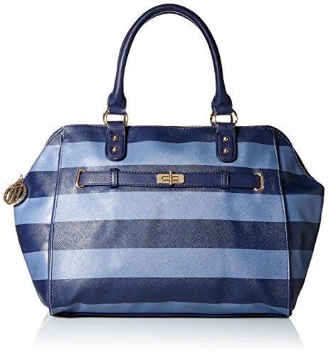 Tommy Hilfiger Helen Satchel Bag, Navy/French Blue, One Size