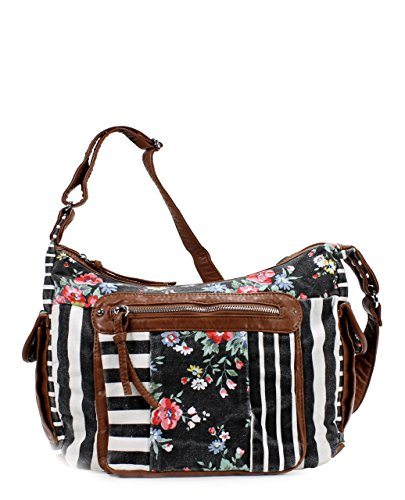 Scarleton Soft Washed Floral Pattern Shoulder Bag H1795