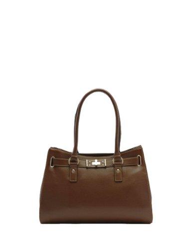 Tosca Hand Bag Handbag Purse – 8072, Brown
