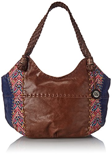 The Sak Indio Satchel Bag, Pink Embroidery, One Size