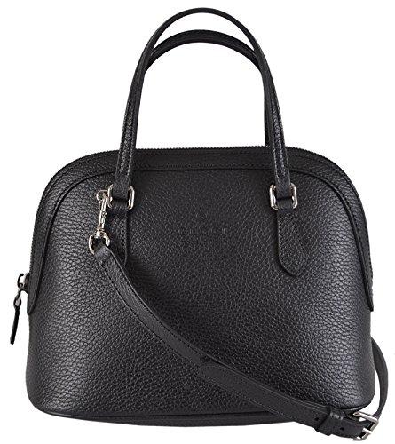 Gucci Women's Black Textured Leather Convertible Mini Dome Purse