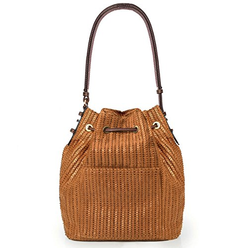 Eric Javits Designer Women's Ami Handbag (Honey)