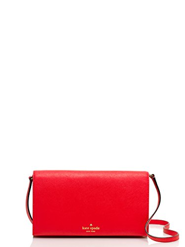 Kate Spade Cedar Street Cali Leather Crossbody Clutch, Cherry Liqueur