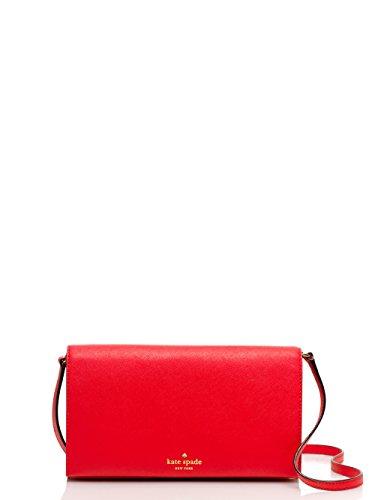 Kate Spade Cedar Street Cali Leather Crossbody Clutch, Cherry Liqueur