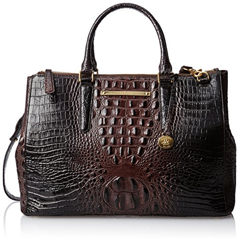 Brahmin Lincoln Satchel,Cocoa,One Size
