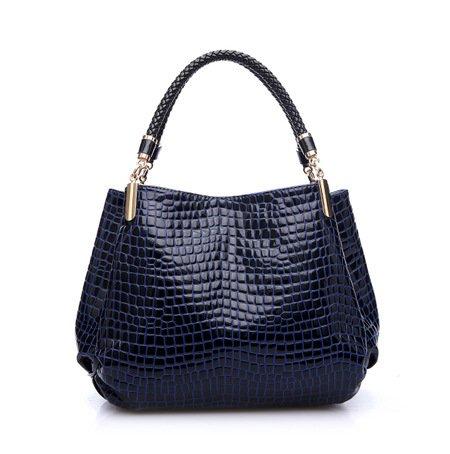 ilishop Women's New Fashion Classy Unique Crocodile Handbag Shoulder Bag For Women (Blue)