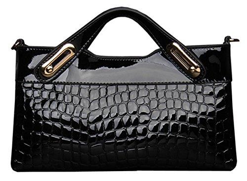 SaiErLong® Womens Evening Bag Crocodile Fashion Genuine Leather Clutch Purse Wallets Shoulder Bag