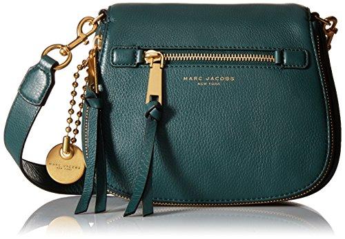 Marc Jacobs Recruit Small Saddle Bag Handbag Green Jewel