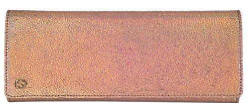 Gucci Women's Metallic Laser Cracked Opalescent Leather GG Clutch Handbag