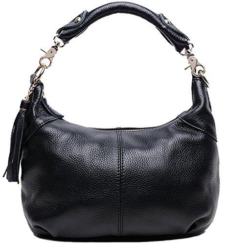 Hotwt Women's Leather Soft Retro Style Tote Top-Handle Shoulder Bag Cross Body Handbag Satchel Purse