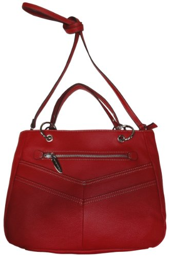 Tignanello Purse Handbag Miss Square Shopper Rouge