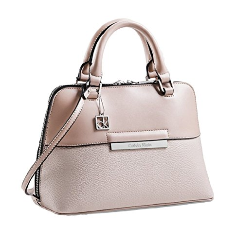Calvin Klein Valerie Dome Satchel Bag Handbag Purse (Teaberry)