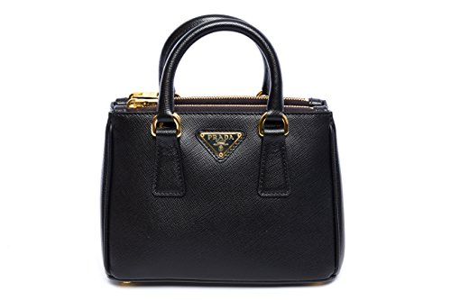 Prada Saffiano Cuir Leather Crossbody MINI Tote 1BH907 – NERO