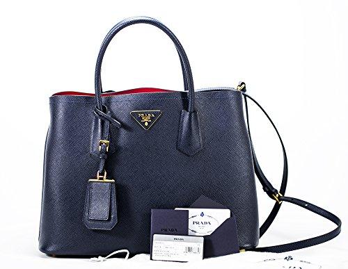 Prada Saffiano Cuir leather tote double bag