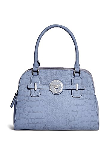 GUESS Women's Delrose Croc-Embossed Dome Satchel