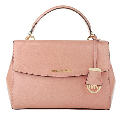 MICHAEL Michael Kors Ava Sm Th Satchel Peach Satchel Handbags
