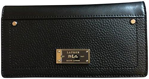 Lauren Ralph Lauren Fulton Genuine Leather Checkbook Slim Wallet Black