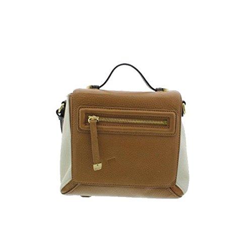 Halston Heritage Womens Leather Colorblock Crossbody Handbag