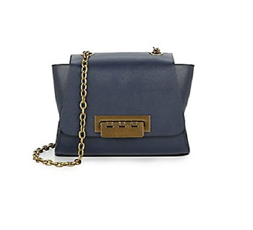 Zac Zac Posen Mini Eartha Leather Shoulder Bag Midnight Blue