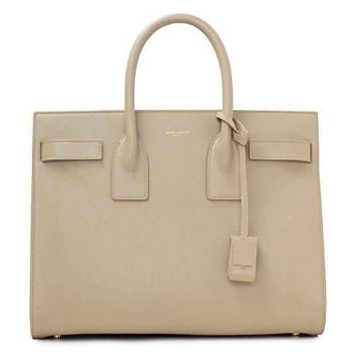 Saint Laurent Beige Calf Leather Classic Small Sac De Jour Satchel Bag 324823